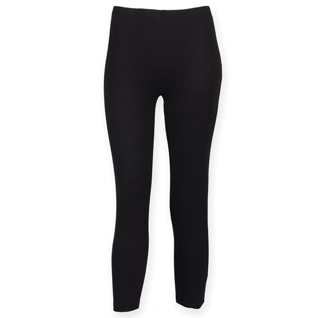 Schwarz - Front - SF Damen Trainingshose - Sportleggings, 3-4-lang