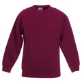 Royalblau - Front - Fruit Of The Loom Kinder Unisex Pullover Klassik 80-20