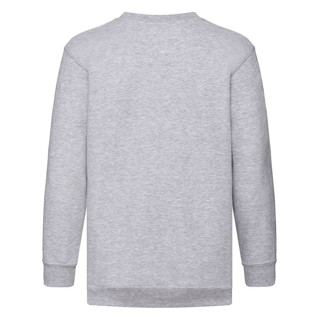 Weiß - Back - Fruit Of The Loom Kinder Unisex Pullover Klassik 80-20