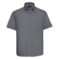 Zink - Front - Russel Collection Herren Twill Hemd, Kurzarm