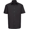 Schwarz - Side - Russell Collection Herren Hemd Easy Care Pure