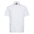 Weiß - Front - Russell Collection Herren Hemd Easy Care Pure