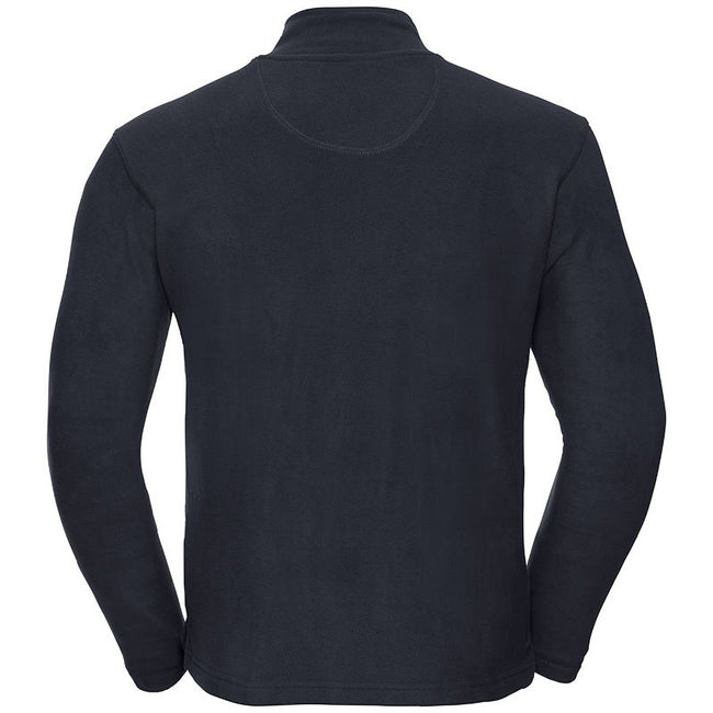Schwarz - Back - Russell Europe Herren Mikrofleece Top mit 1-4 Zip