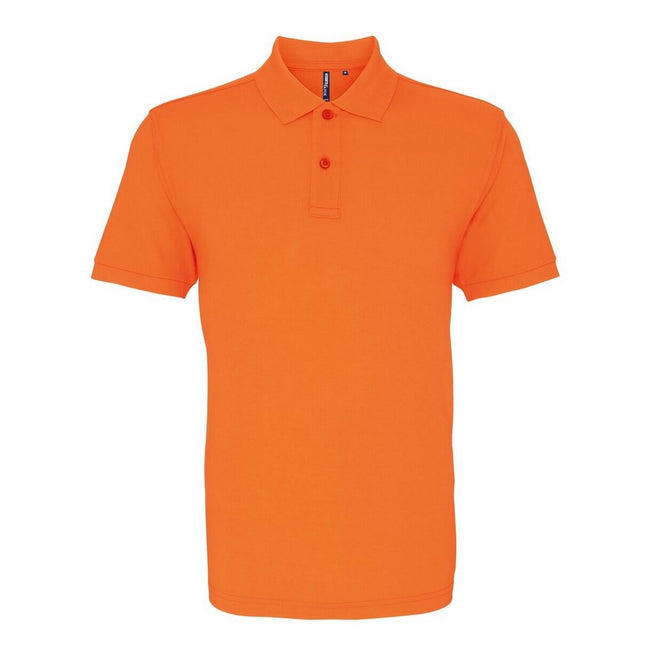 Neonorange - Front - Asquith & Fox Herren Polo-Shirt, Kurzarm