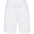 Weiß - Side - Front Row Herren Stretch Chino-Shorts mit hohem Baumwollanteil