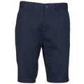 Marineblau - Front - Front Row Herren Stretch Chino-Shorts mit hohem Baumwollanteil