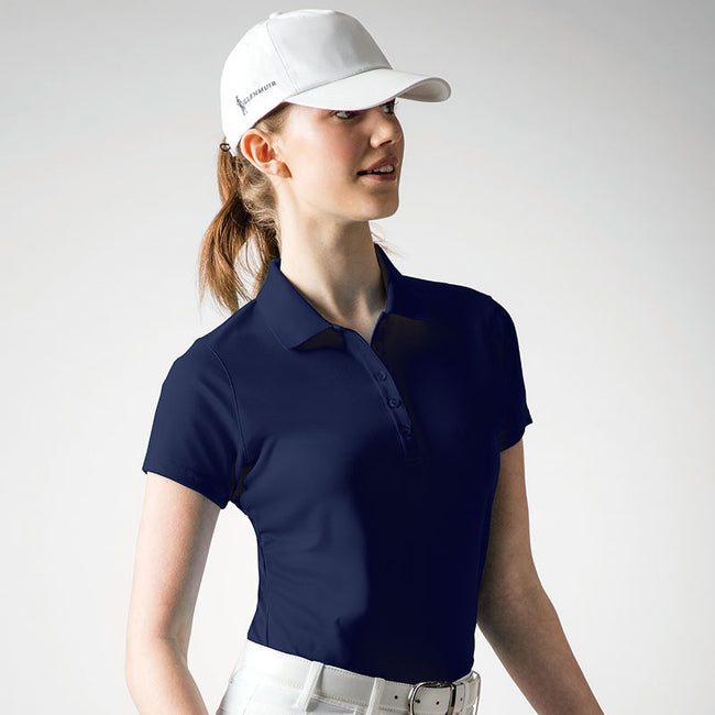 Marineblau - Back - Glenmuir Damen Performance Pique Polo-Shirt, kurzärmlig