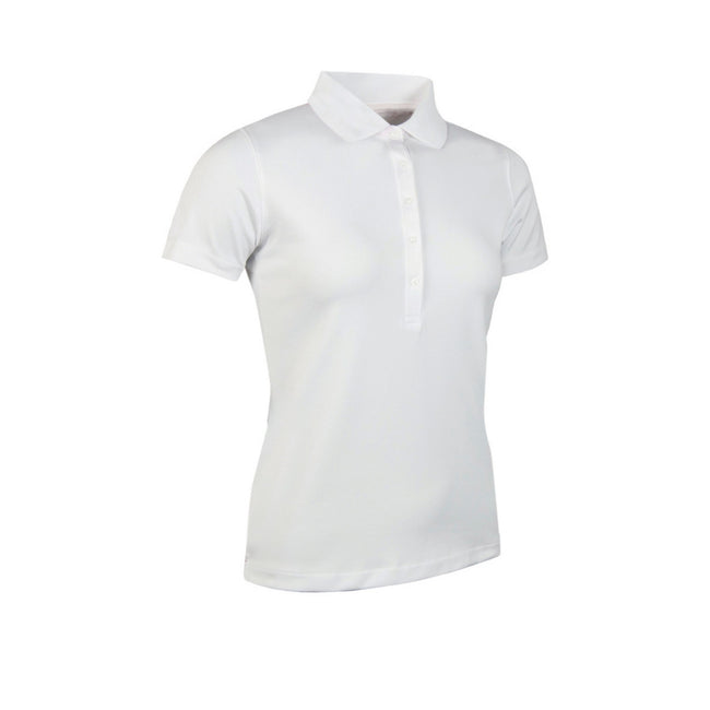Weiß - Front - Glenmuir Damen Performance Pique Polo-Shirt, kurzärmlig