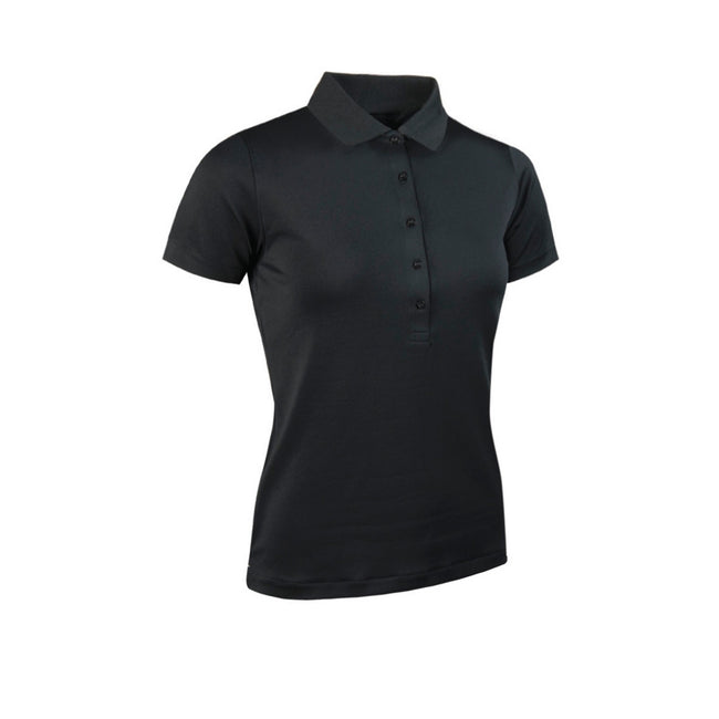 Schwarz - Front - Glenmuir Damen Performance Pique Polo-Shirt, kurzärmlig