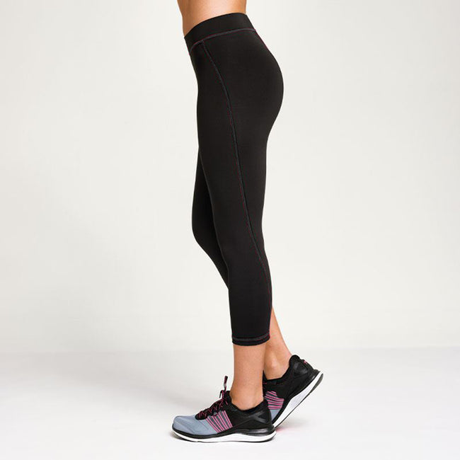 Schwarz - Back - Tri Dri Damen Fitness Leggings, wadenlang