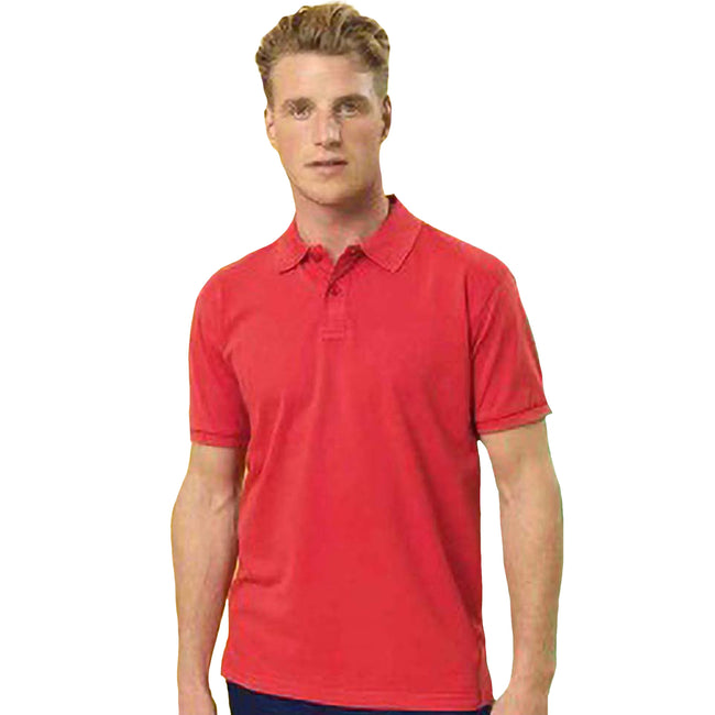 Orange - Back - Asquith&Fox Herren Poloshirt