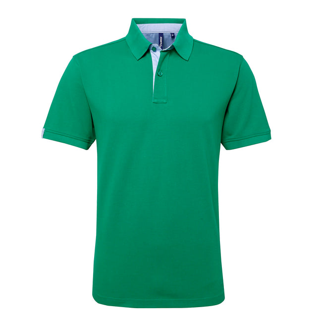 Orange-Kornblume - Back - Asquith & Fox Herren Kurzarm Polo Shirt Baumwolle