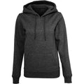 Schwarz - Front - Build Your Brand Damen Heavy Kapuzenpullover