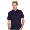 Marineblau - Back - Henbury Herren Polo-Shirt, Kurzarm