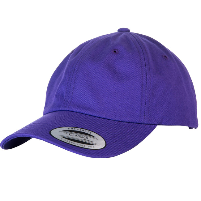 Lila - Front - Yupoong Flexfit 6 Panel Baseball Kappe mit Schnalle (2 Stück-Packung)
