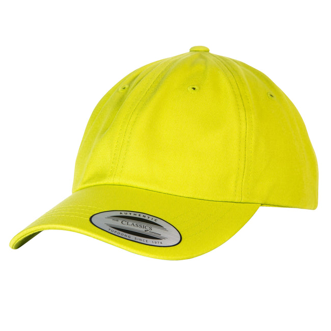 Limette - Front - Yupoong Flexfit 6 Panel Baseball Kappe mit Schnalle (2 Stück-Packung)