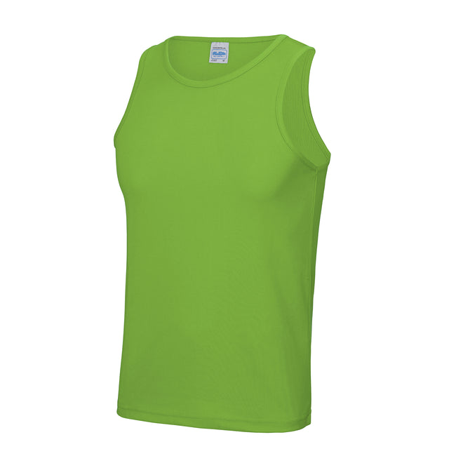 Limette - Back - Just Cool Herren Sport Tank Top Gym