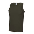 Olive - Back - Just Cool Herren Sport Tank Top Gym