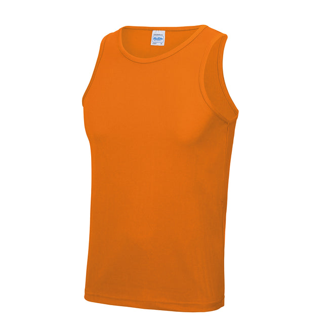 Orange - Back - Just Cool Herren Sport Tank Top Gym