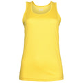 Sonnengelb - Front - Just Cool Damen Sport Tank Top