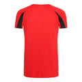 Feuerrot-Schwarz - Back - Just Cool Kinder Sport T-Shirt Unisex