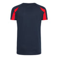 Marineblau-Feuerrot - Back - Just Cool Kinder Sport T-Shirt Unisex