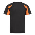 Schwarz-Elektrik Orange - Back - Just Cool Kinder Sport T-Shirt Unisex