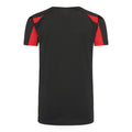 Schwarz-Feuerrot - Back - Just Cool Kinder Sport T-Shirt Unisex