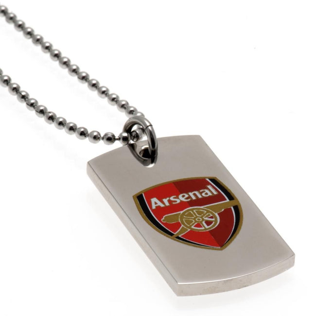 Metall - Back - Arsenal FC Farb-Wappen Dog Tag und Kette