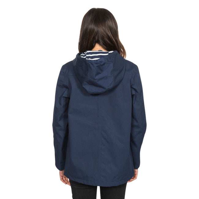 Marineblau - Side - Trespass Damen Outdoorjacke Seawater wasserdicht, mit Kapuze