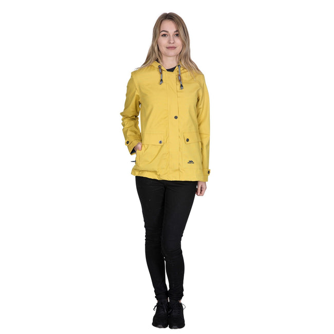 Goldgelb - Back - Trespass Damen Outdoorjacke Seawater wasserdicht, mit Kapuze