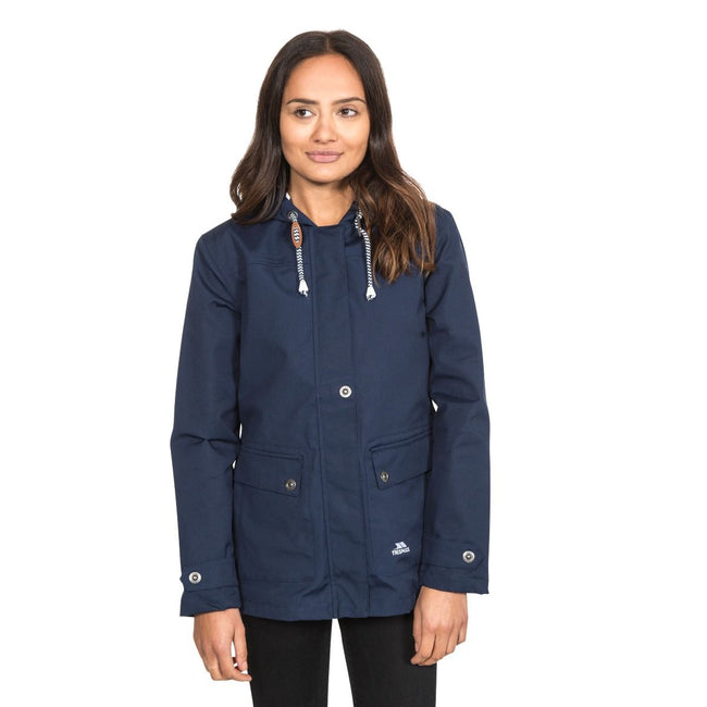 Marineblau - Back - Trespass Damen Outdoorjacke Seawater wasserdicht, mit Kapuze