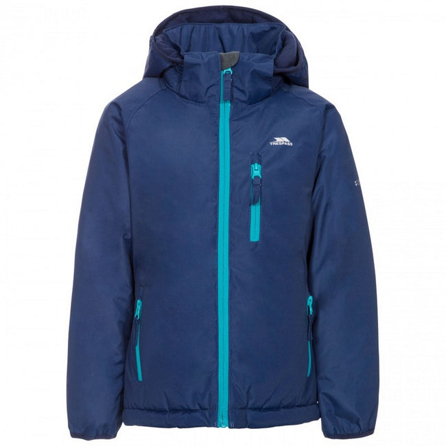 Aquamarin - Back - Trespass Kinder - Mädchen Outdoorjacke Shasta wasserfest