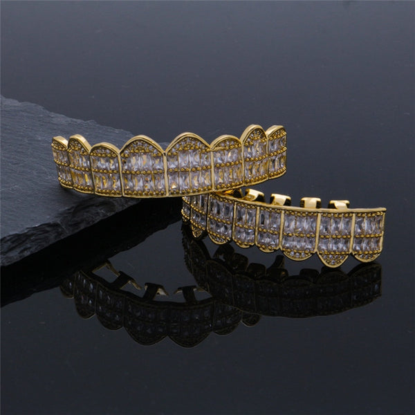 ICED OUT KING GRILLZ TOP & BOTTOM TOOTH SET