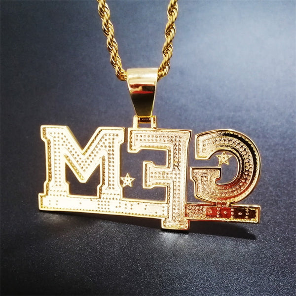 Iced Out God Family Money Pendant Necklace