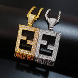 ICED OUT FAMILY FIRST PENDANT NECKLACE