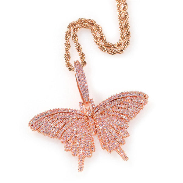 SMALLER BUTTERFLY PENDANT NECKLACE
