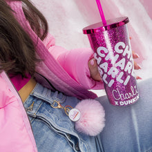 Load image into Gallery viewer, Charli x Dunkin' Pom Pom Keychain