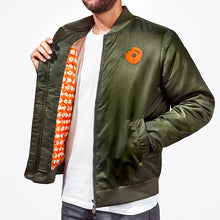 Load image into Gallery viewer, Peace, Donuts, Plants Bomber Jacket