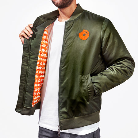 Peace, Donuts, Plants Bomber Jacket