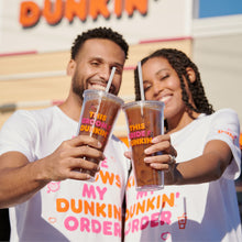 Load image into Gallery viewer, This Bride Runs on Dunkin' Tumbler