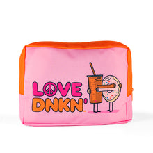 Load image into Gallery viewer, PEACE, LOVE, DUNKIN' MAKEUP POUCH