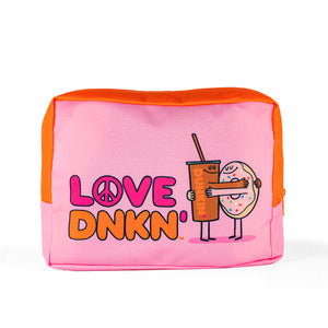 PEACE, LOVE, DUNKIN' MAKEUP POUCH