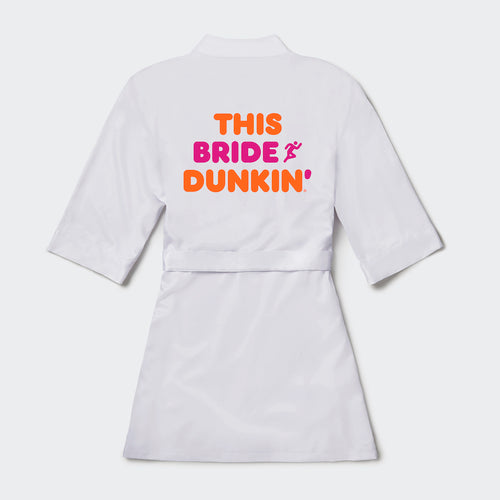 Dunkin' Bride Satin Robe