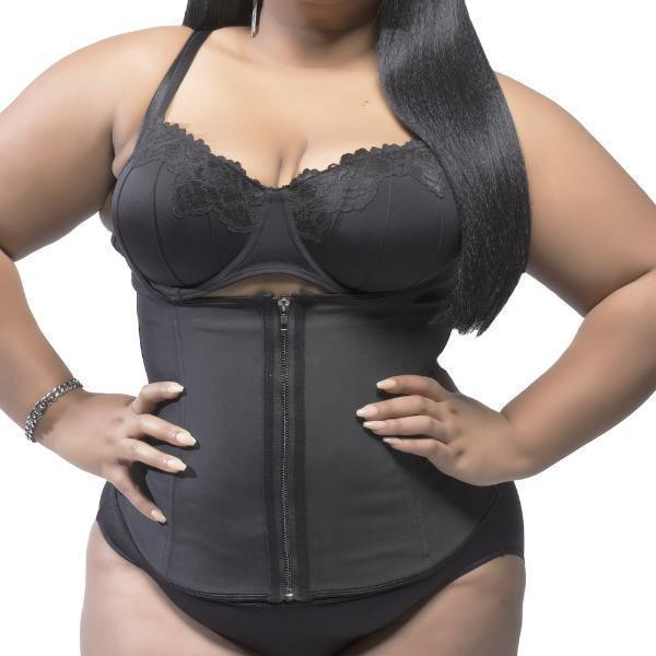 "Plus Size ""Clip & Zip"" Waist Trainer - Triple Hook and Zippered Body Shaper!"