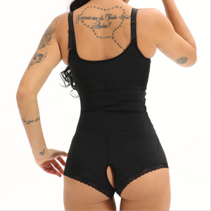 Zippered Sexy Bodysuit Waist & Stomach Shaper with Lace