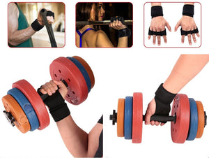 Padded Weightlifting Grips - Protect Your Hands!