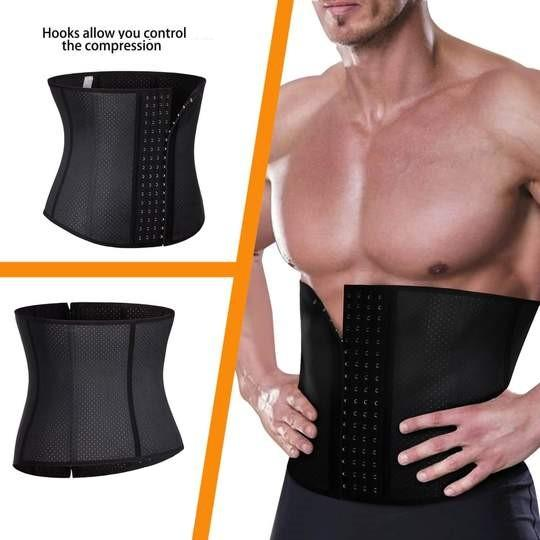 Premium Waist Trainer for Men - 3 Adjustable Hooks