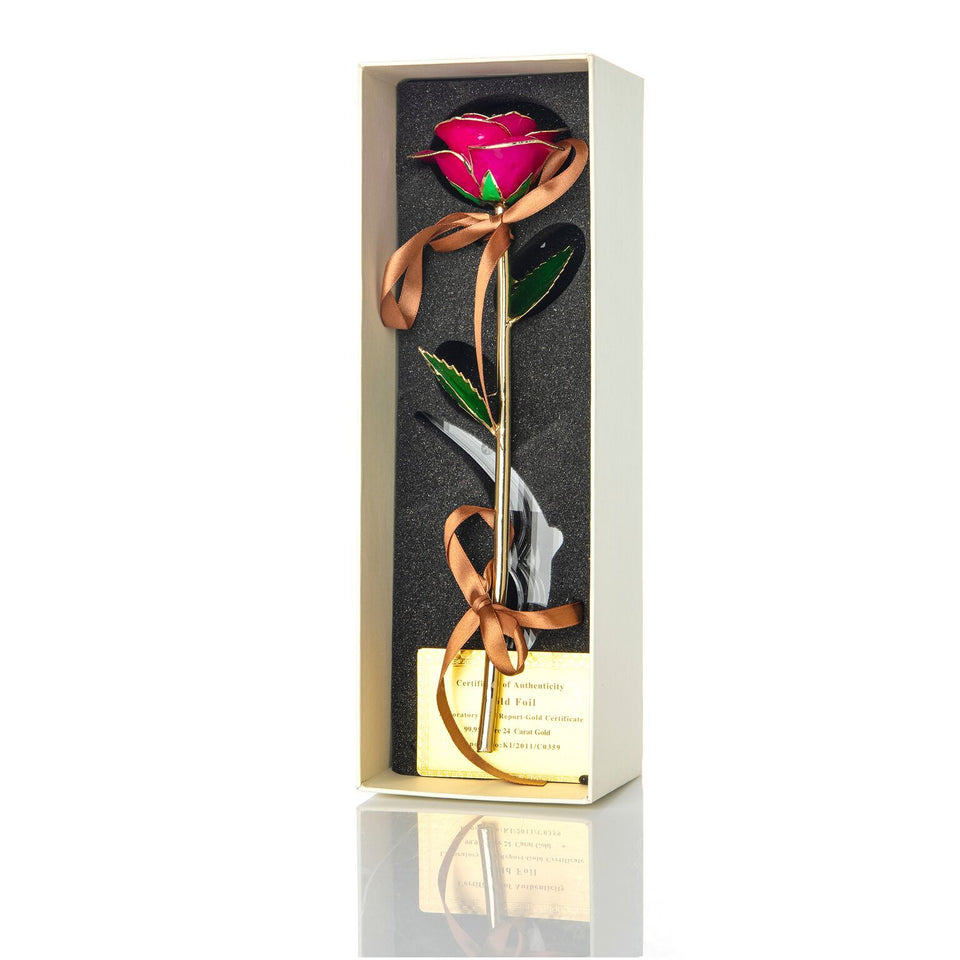 24K Gold Dipped Rose – Pink