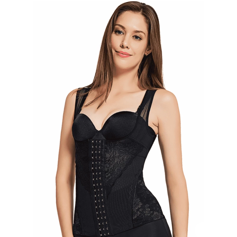 Sexy Lace Waist Trainer with 6 Adjustable Hooks